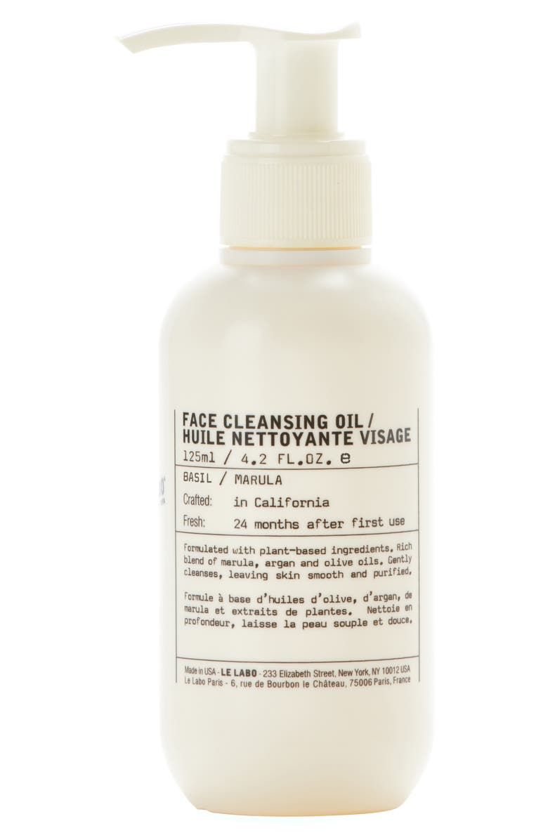 LE LABO Basil Facial Cleansing Oil, Main, color, No Color