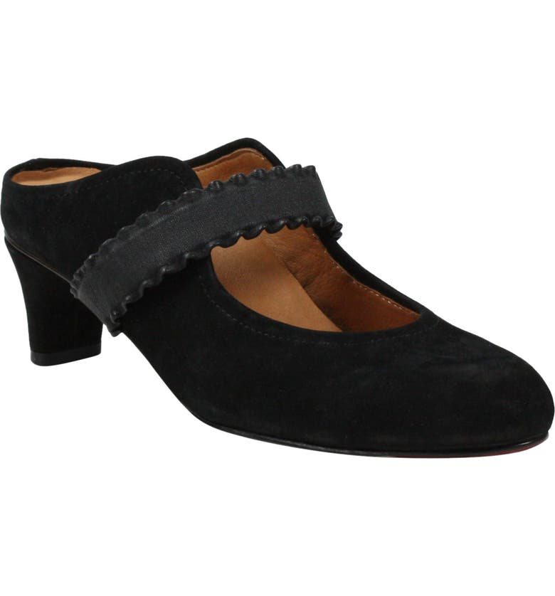 L'AMOUR DES PIEDS Jadida Mule, Main, color, BLACK NUBUCK LEATHER