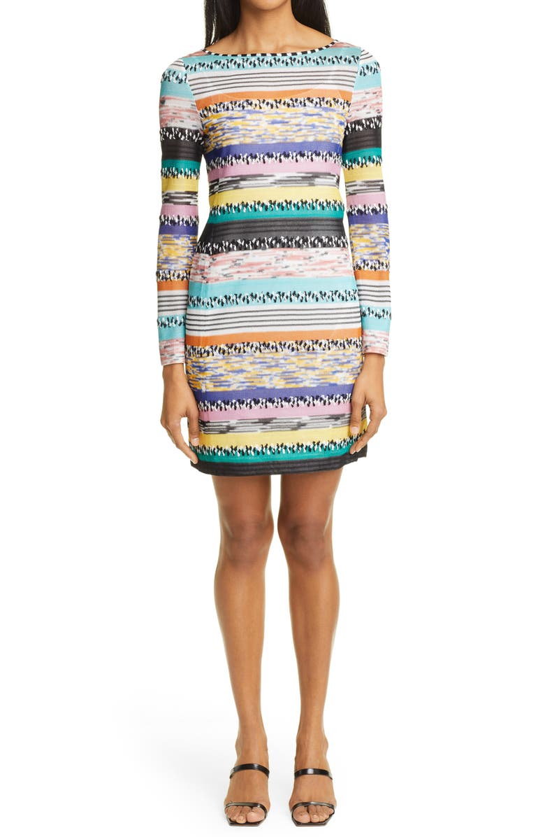 MISSONI Stripe Jacquard Long Sleeve Sweater Dress, Main, color, SM48R MULTI