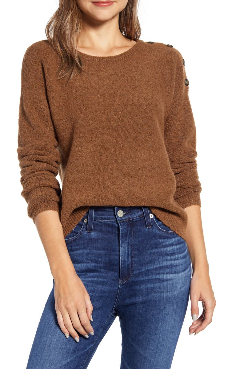 CASLON<SUP>®</SUP> Shoulder Button Sweater, Main, color, 210