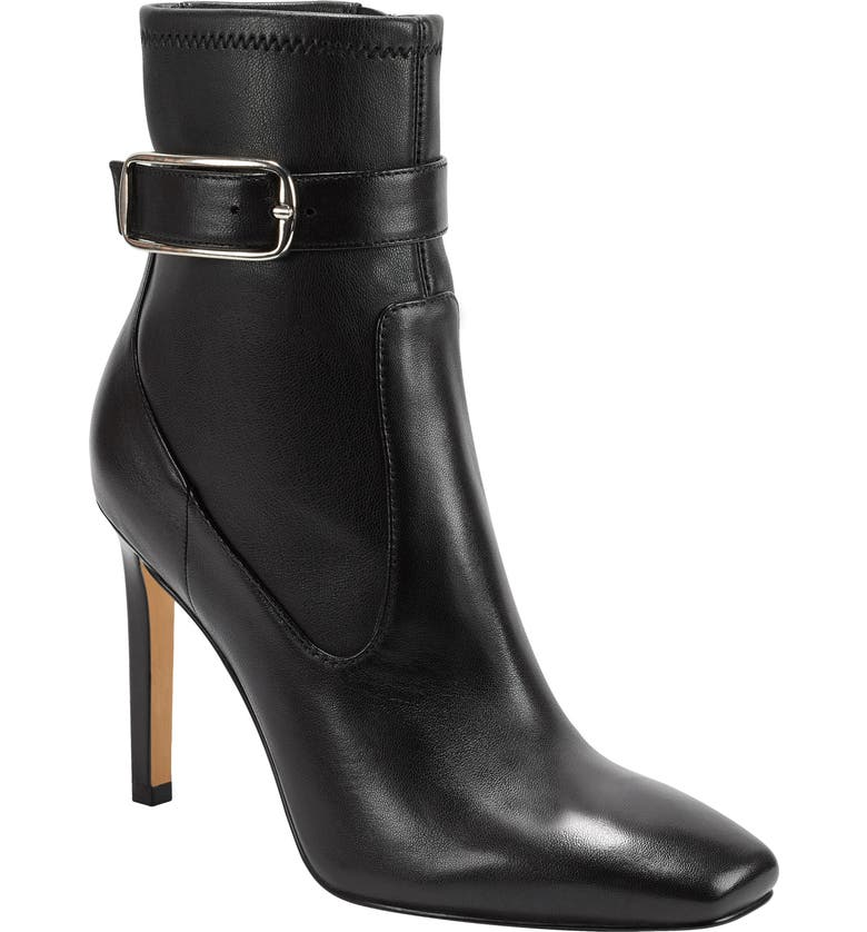 MARC FISHER LTD Cyndi Buckle Square Toe Bootie, Main, color, 001