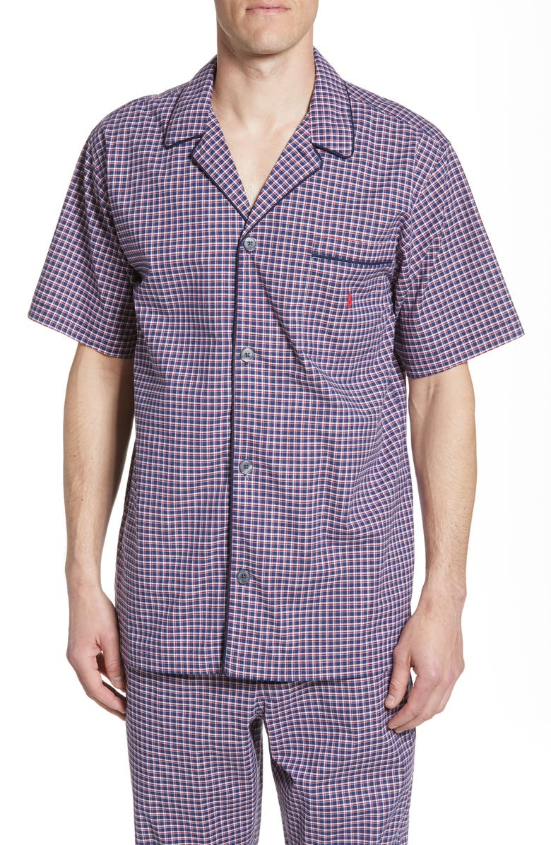 POLO RALPH LAUREN Classic Stretch Pajama Shirt, Main, color, 601