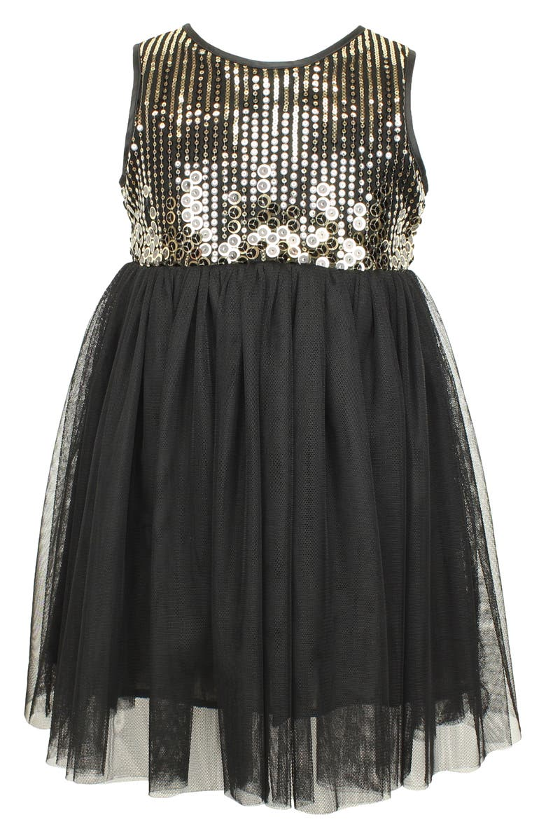 POPATU Sequin Sleeveless Tulle Party Dress, Main, color, 002