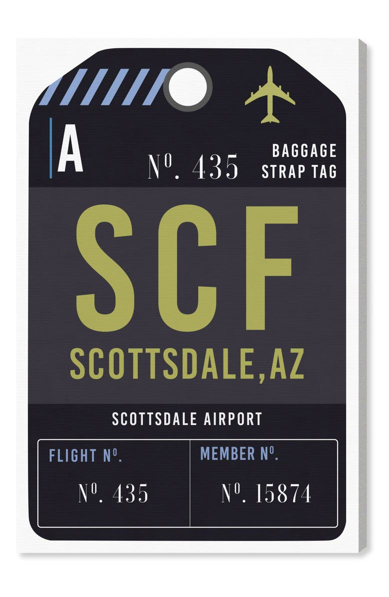 OLIVER GAL Scottsdale Luggage Tag Wall Art, Main, color, 001
