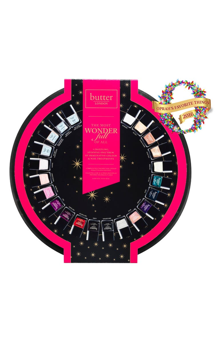 BUTTER LONDON THE MOST WONDERfull OF ALL Nail Lacquer Collection, Main, color, NO COLOR