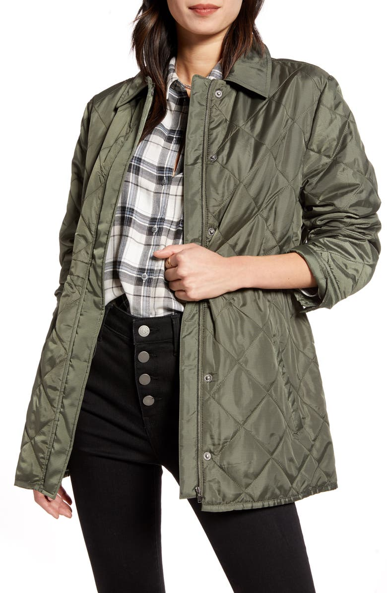 TREASURE & BOND Quilted Barn Jacket, Main, color, 301