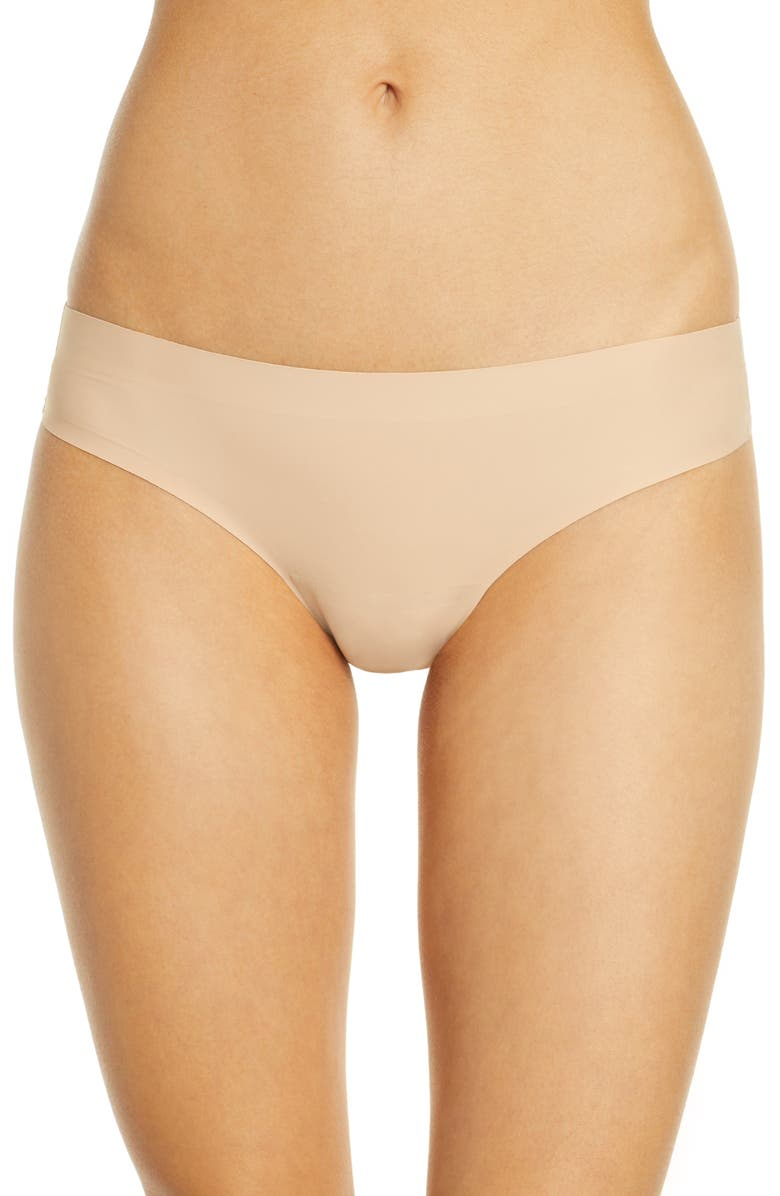 KNIX Essential Low Rise Thong, Main, color, BEIGE