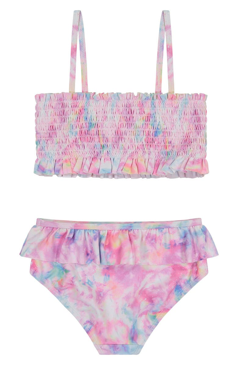 ANDY & EVAN Kids' Smocked Two-Piece Swimsuit, Main, color, WHA