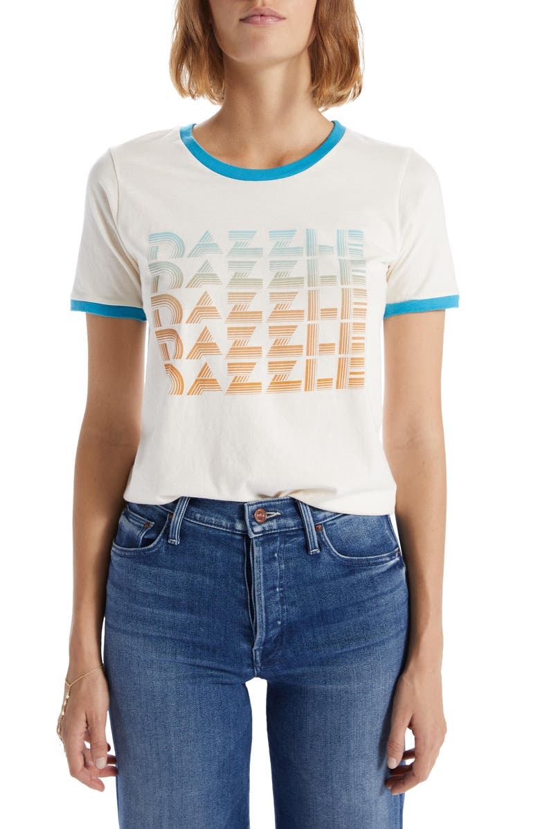 MOTHER The Itty Bitty Goodie Cotton Ringer Tee, Main, color, DAZZLE