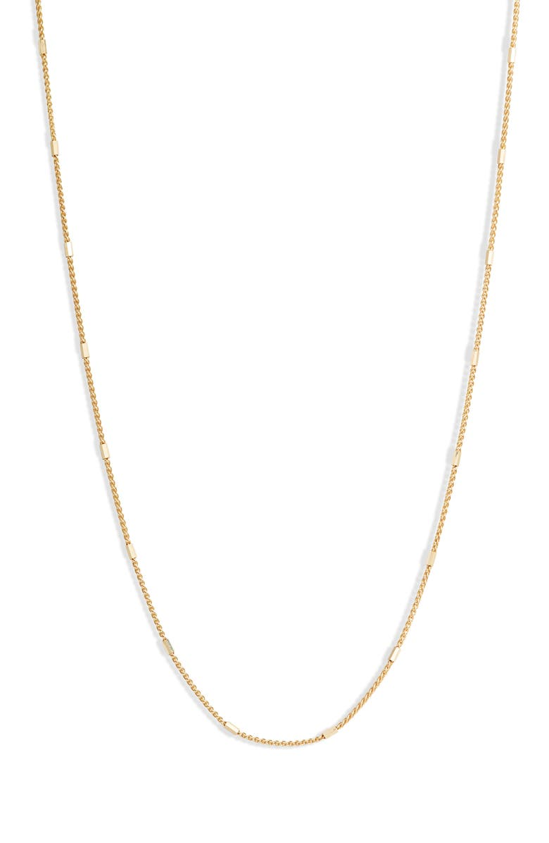 BONY LEVY 14K Gold Bar Station Chain Necklace, Main, color, YELLOW GOLD