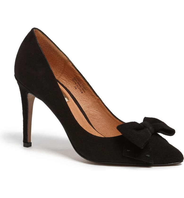 HALOGEN<SUP>®</SUP> 'Marla' Suede Bow Pointy Toe Pump, Main, color, 019