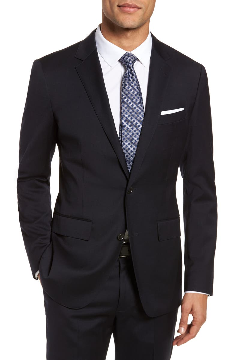 BONOBOS Jetsetter Slim Fit Stretch Wool Blazer, Main, color, BLACK