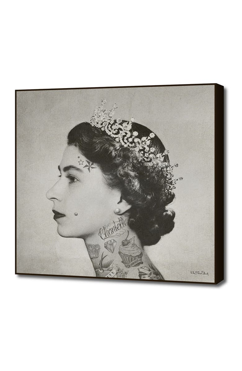 CURIOOS Large Tattoo Queen By The New Black By Rame, Main, color, BLACK/WHITE