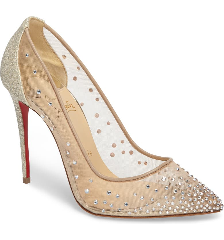 CHRISTIAN LOUBOUTIN Follies Strass Pump, Main, color, 251