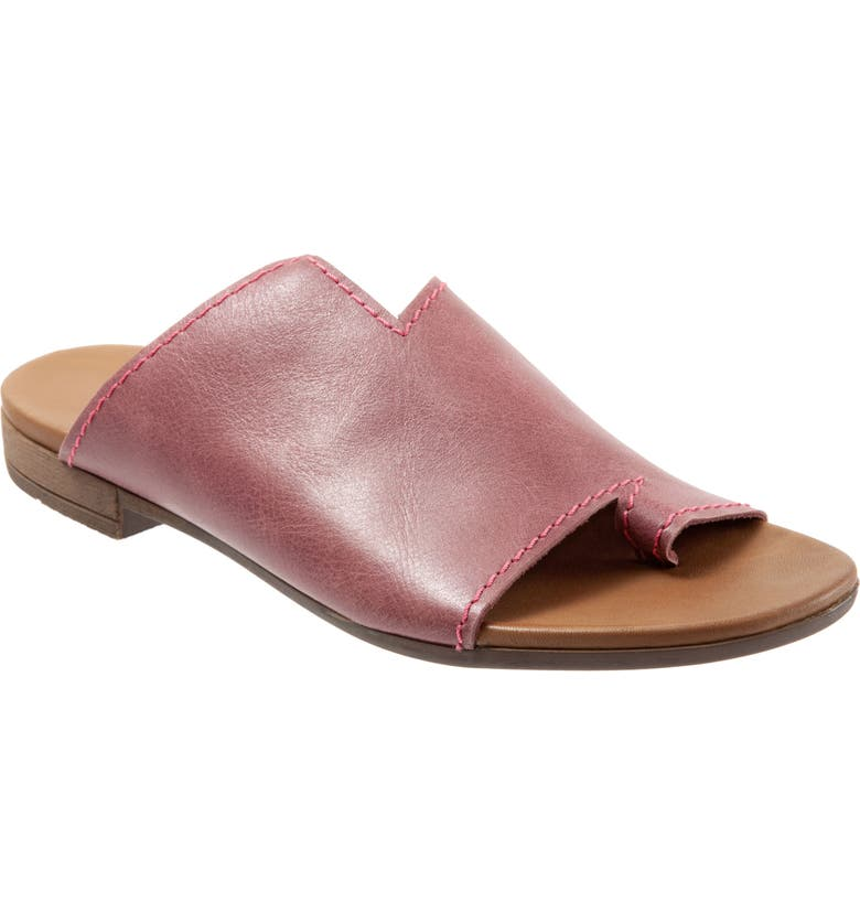 BUENO Tulla Slide Sandal, Main, color, BORDEAUX LEATHER