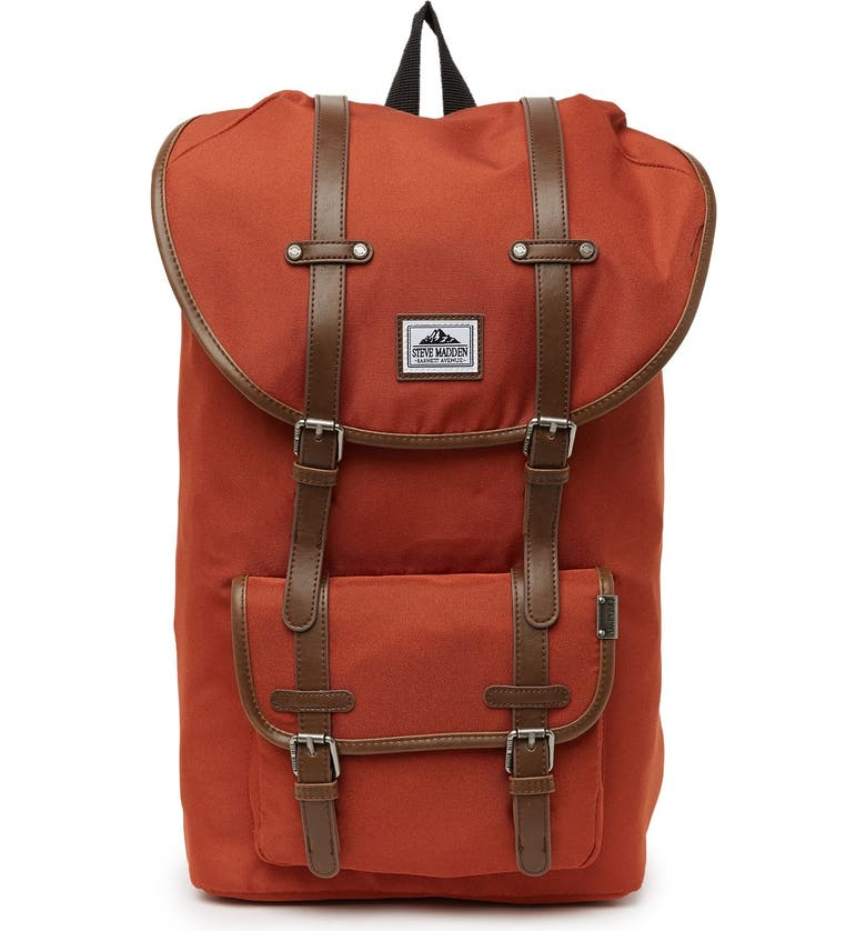 STEVE MADDEN Solid Utility Backpack, Main, color, RUST