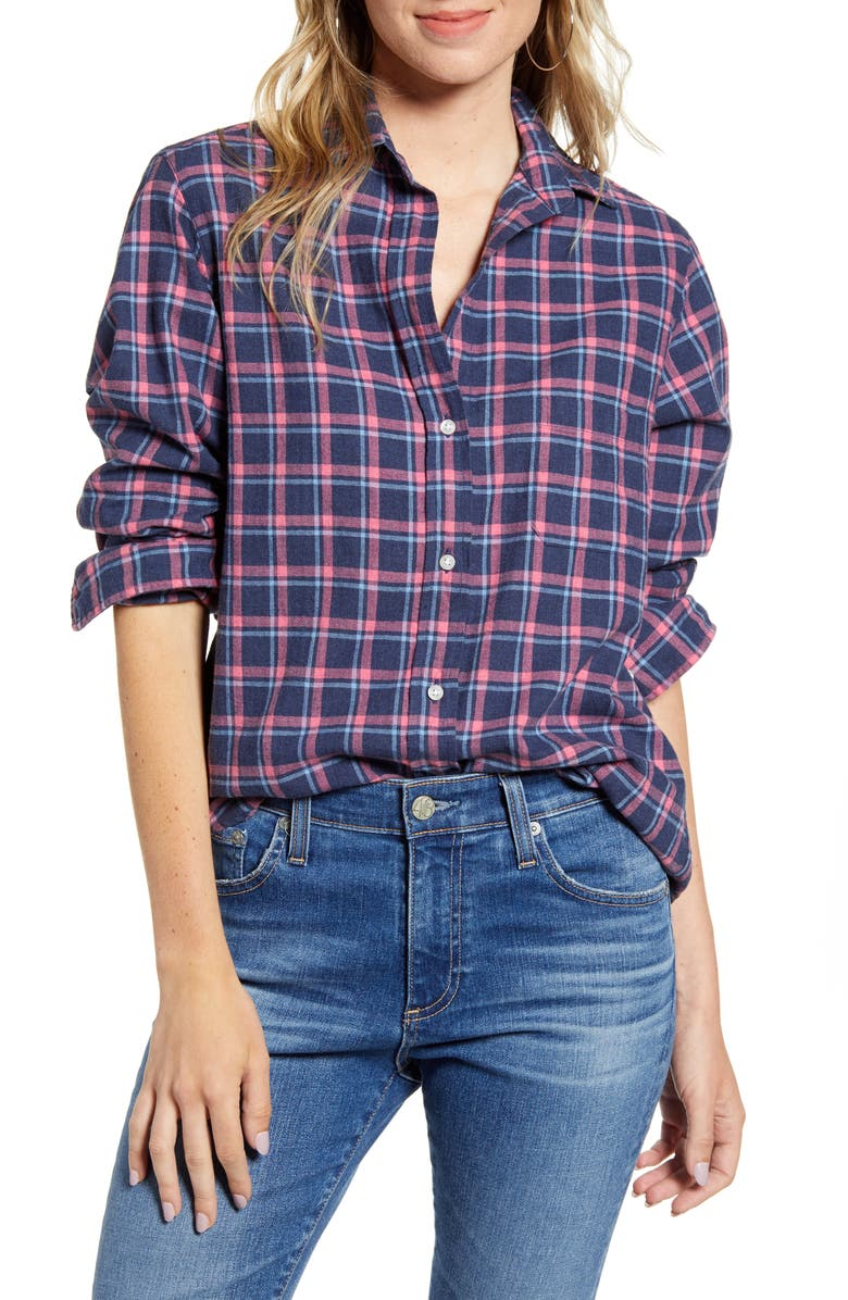 GRAYSON The Hero Feathered Flannel Shirt, Main, color, 400