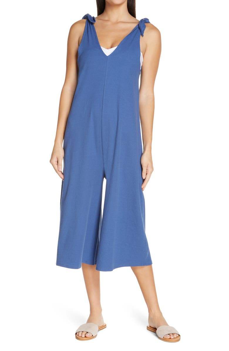 CHELSEA28 Rib Cover Up Jumpsuit, Main, color, BLUE CANAL