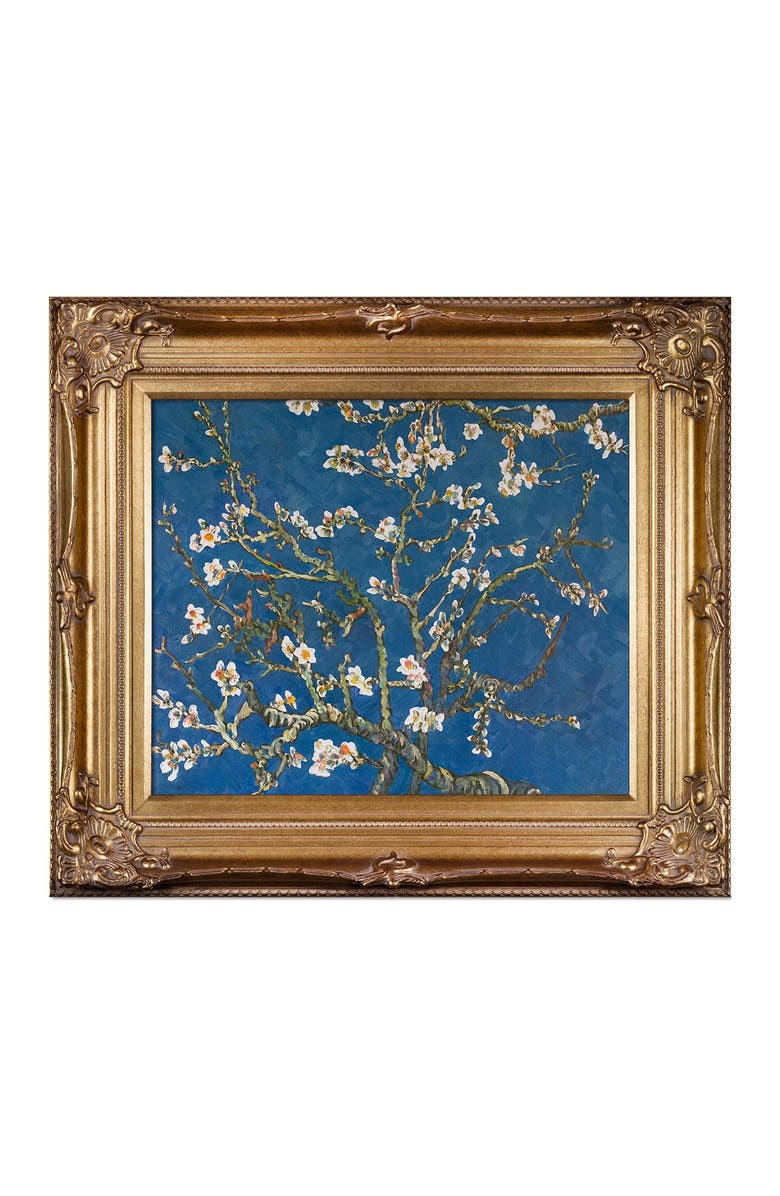 OVERSTOCK ART Branches of an Almond Tree in Blossom - Framed Oil Reproduction of an Original Painting by Vincent Van Gogh, Main, color, MULTI