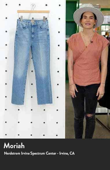 The Hustler High Waist Frayed Ankle Bootcut Jeans, sales video thumbnail