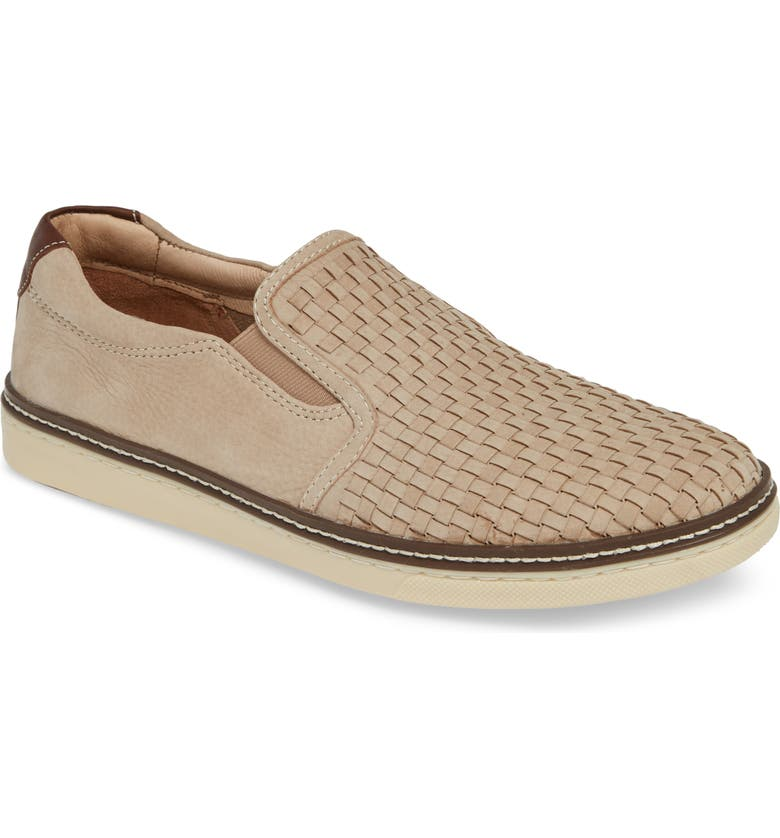 JOHNSTON & MURPHY McGuffy Slip-On, Main, color, BEIGE NUBUCK