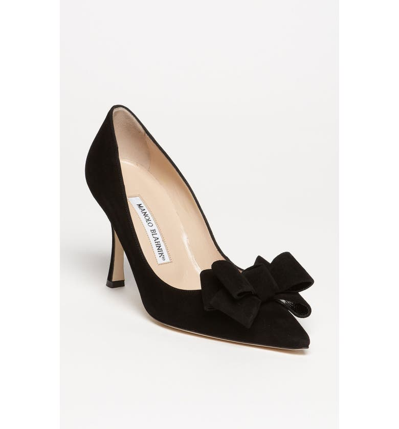 MANOLO BLAHNIK Bow Pump, Main, color, 001
