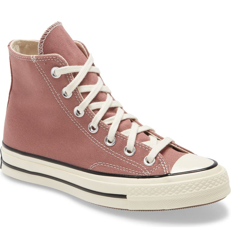 CONVERSE Chuck Taylor<sup>®</sup> All Star<sup>®</sup> 70 High Top Sneaker, Main, color, SADDLE/ EGRET/ BLACK