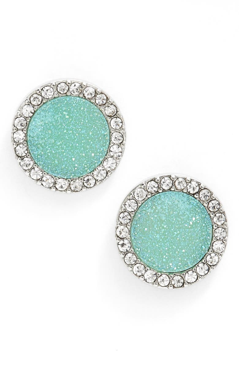 LONNA & LILLY Drusy Stud Earrings, Main, color, 300