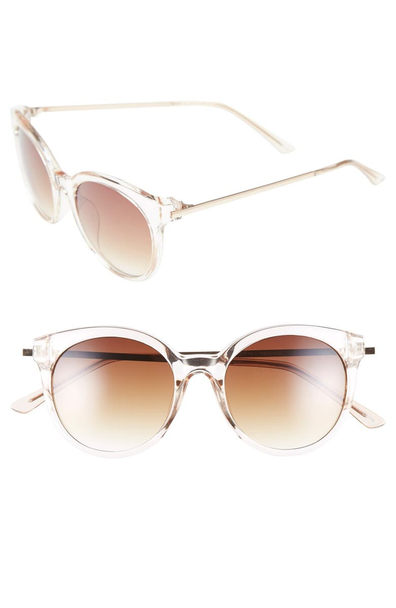 BP. 54mm Round Sunglasses, Main, color, Gold