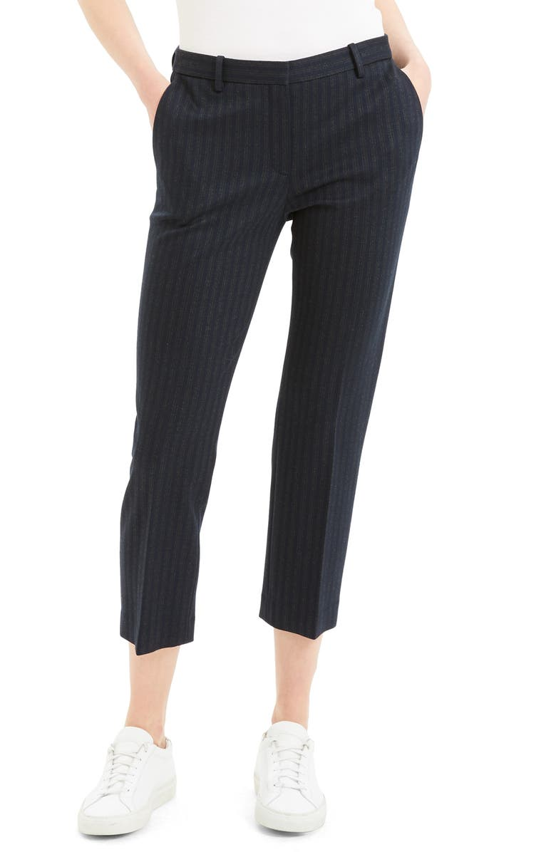 THEORY Stripe Tailored Pants, Main, color, 015