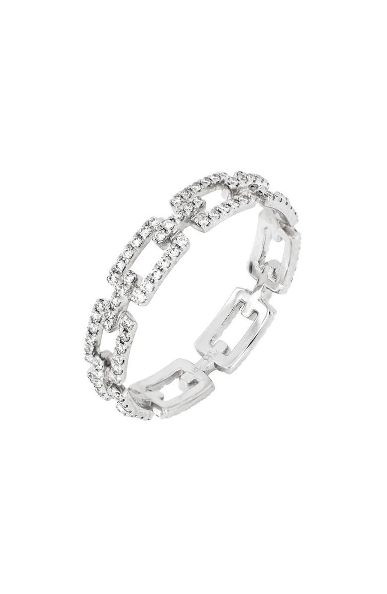 BONY LEVY Prism Link Eternity Ring, Main, color, WHITE GOLD