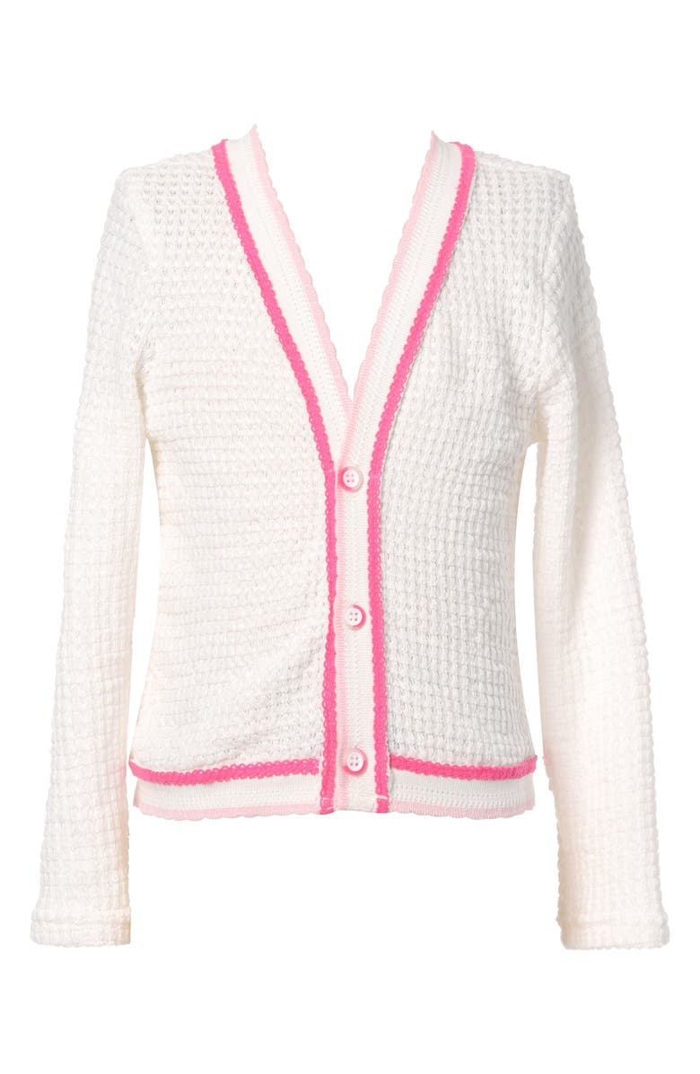 TRULY ME Kids' Cardigan, Main, color, WHITE