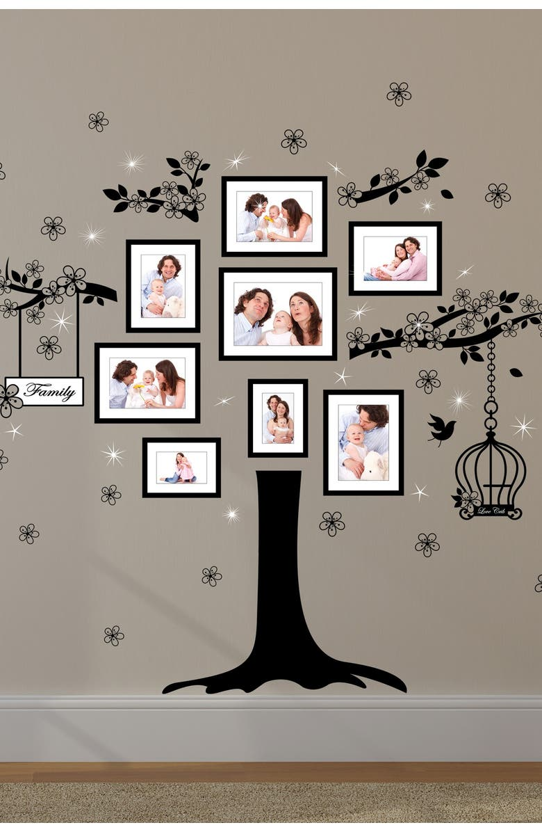 WALPLUS Huge Family Tree with Swarovski Crystals Wall Sticker Decal, Main, color, MULTI