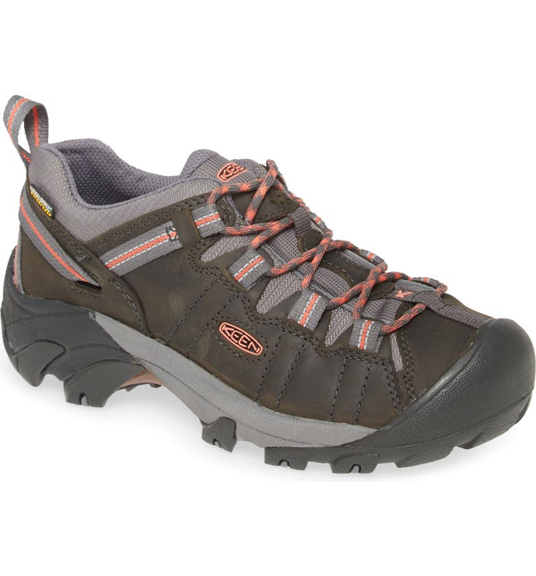 KEEN 'Targhee II' Walking Shoe, Main, color, MAGNET/ CORAL LEATHER