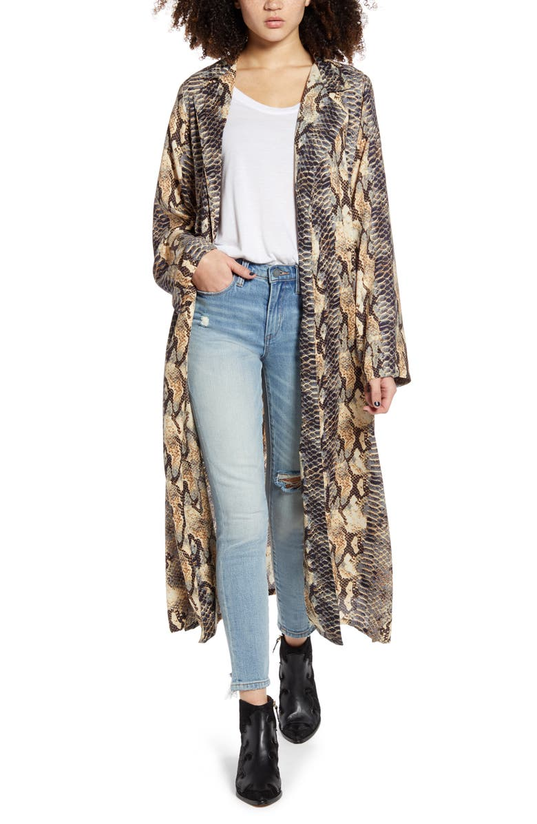 ANGIE Snake Print Duster, Main, color, 200