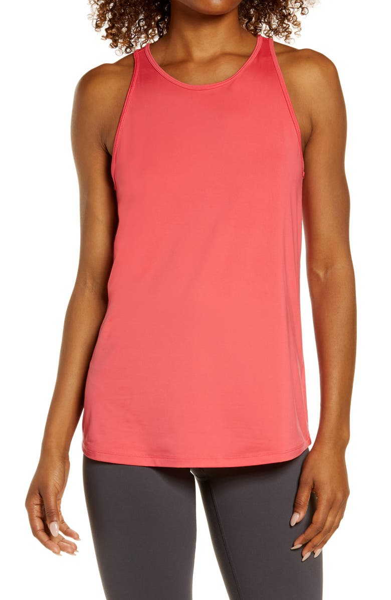 ZELLA Strength Racerback Tank, Main, color, PINK PARADISE