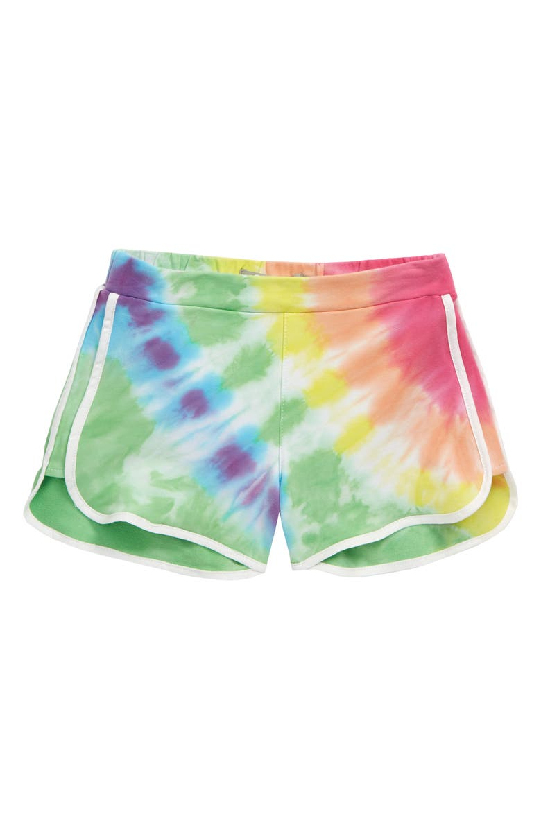 TRACTR Tie Dye Soft Shorts, Main, color, BLUE MULTI