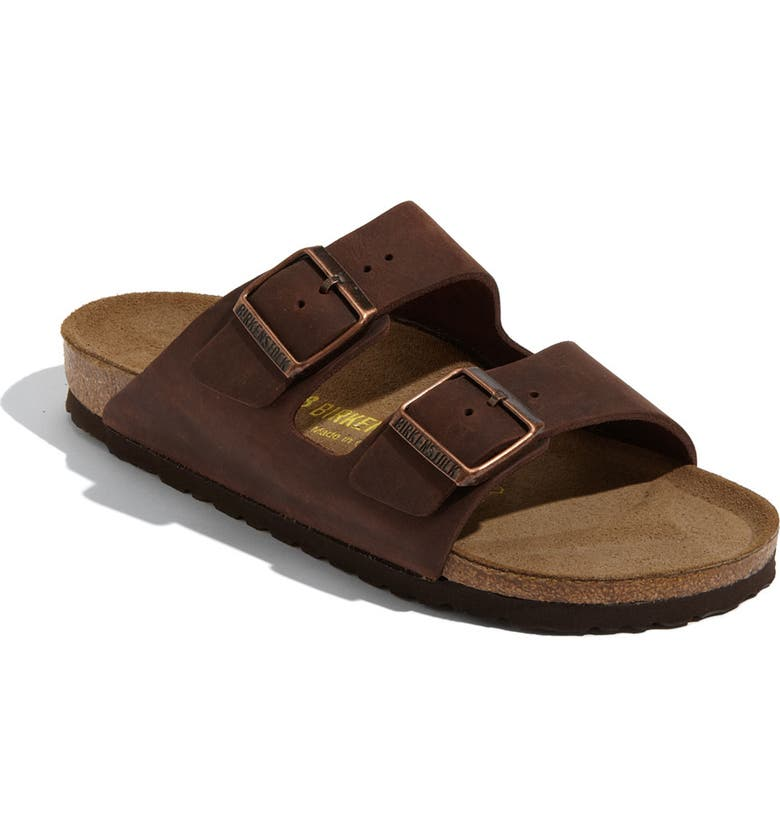 BIRKENSTOCK Arizona Soft Footbed Sandal, Main, color, HABANA LEATHER