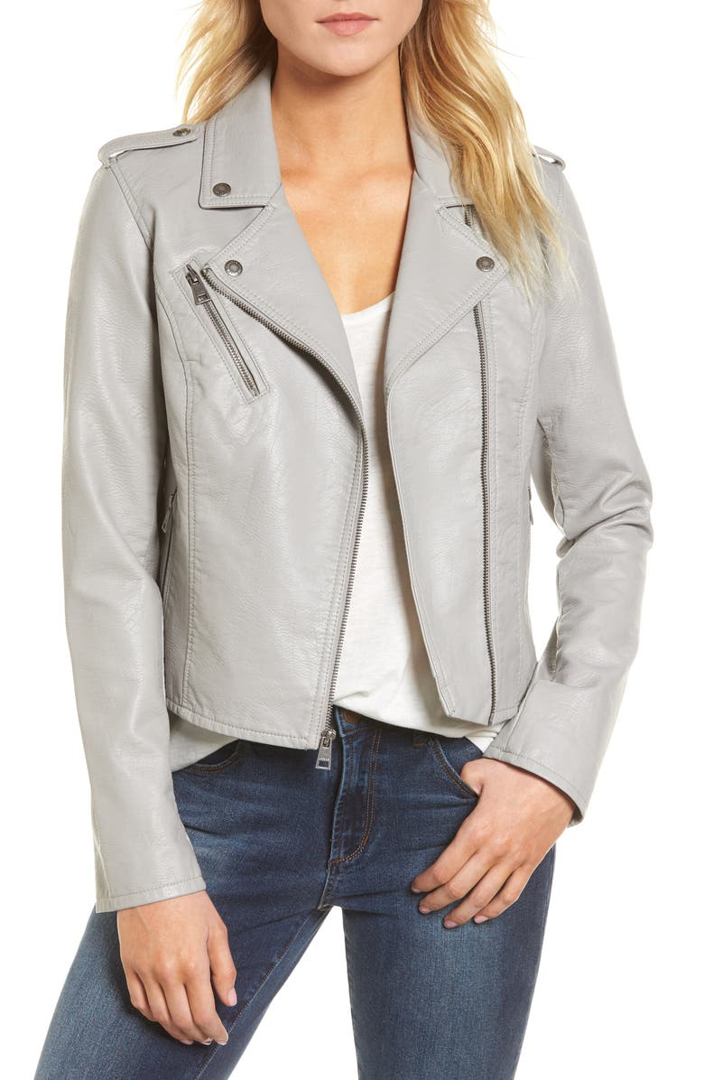 LEVI'S<SUP>®</SUP> Faux Leather Moto Jacket, Main, color, 030