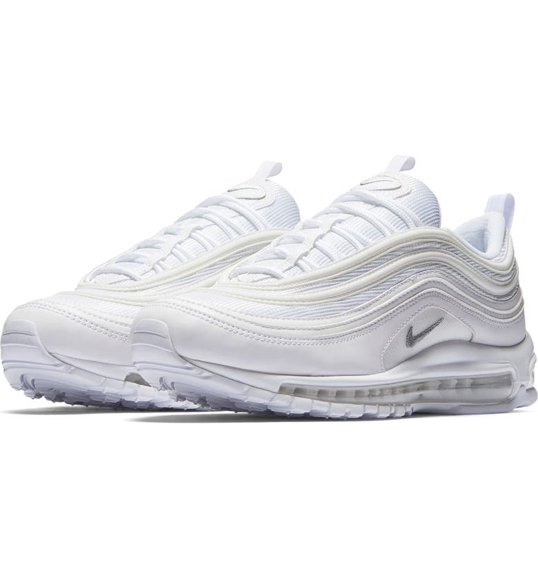 NIKE Air Max 97 Sneaker, Main, color, WHITE/ WOLF GREY/ BLACK