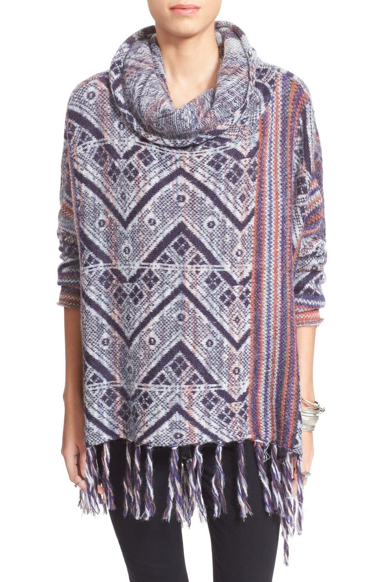 FREE PEOPLE 'Be the One' Fringe Poncho, Main, color, 417