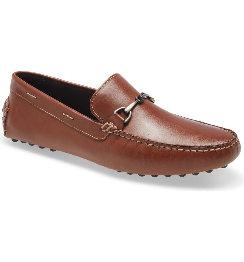 NORDSTROM Banks Driving Shoe, Main, color, TAN LEATHER