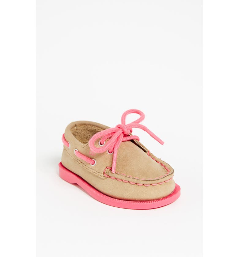 SPERRY Top-Sider<sup>®</sup> Kids 'Authentic Original' Crib Shoe, Main, color, 250