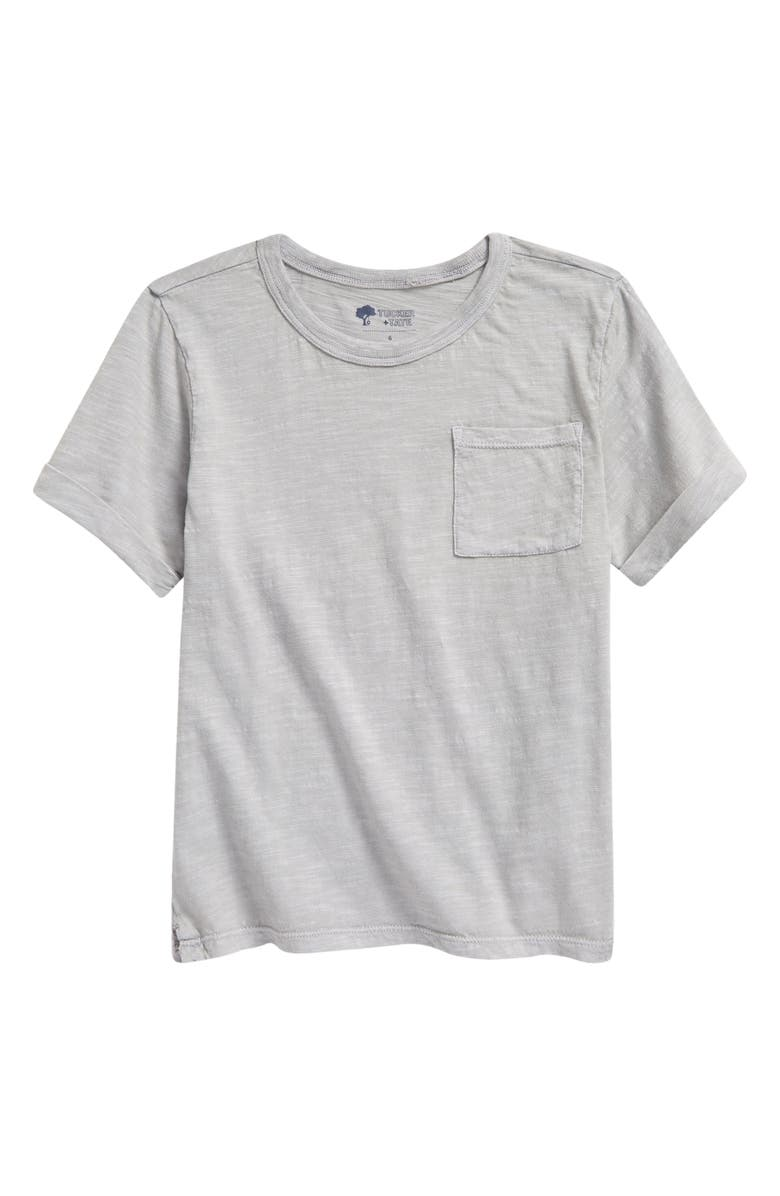 TUCKER + TATE Kids' Relaxed Pocket T-Shirt, Main, color, GREY ALLOY