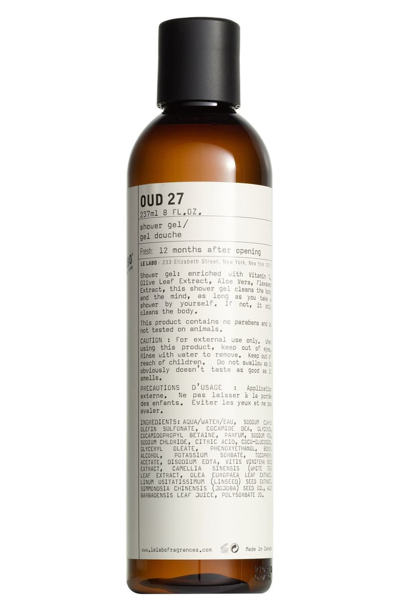 LE LABO Oud 27 Shower Gel, Main, color, NO COLOR