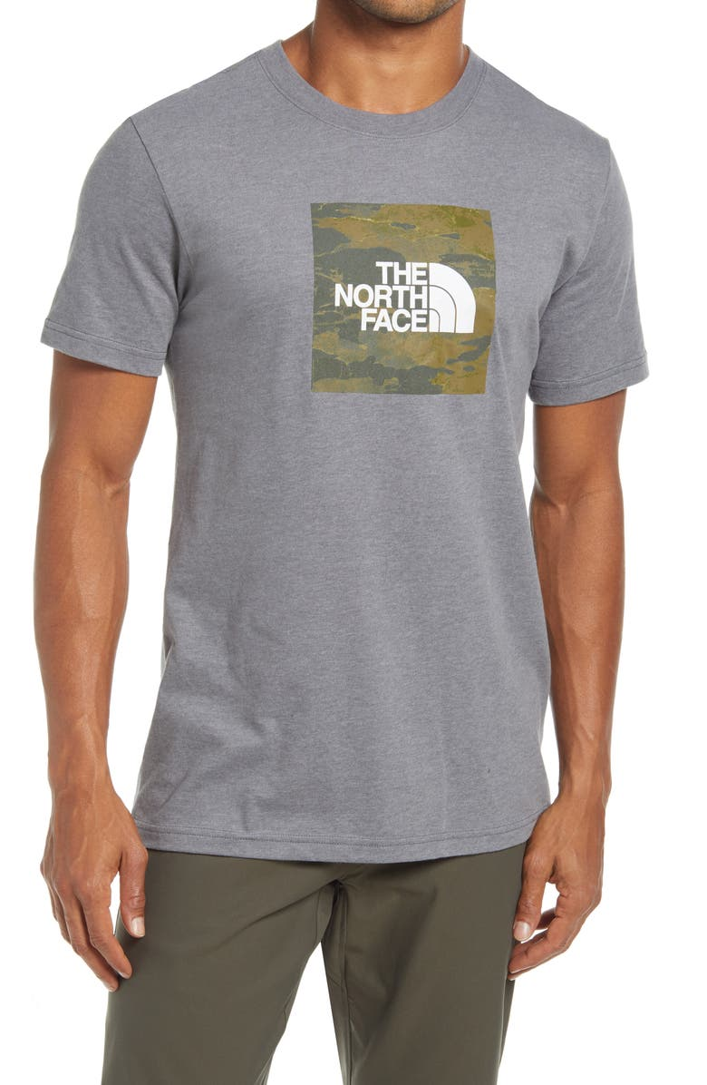 THE NORTH FACE Boxed In Logo Graphic Tee, Main, color, TNF MEDIUM GREY HEATHER