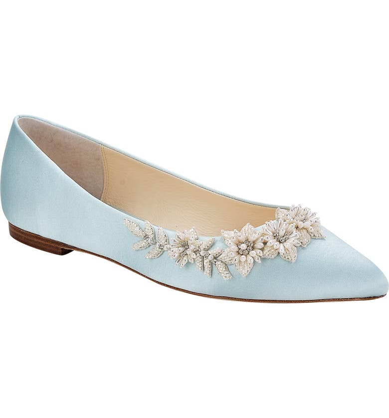 BELLA BELLE Daisy Embellished Ballet Flat, Main, color, BLUE SILK