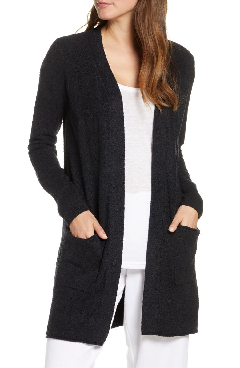 BAREFOOT DREAMS<SUP>®</SUP> CozyChic Lite<sup>®</sup> Long Cardigan, Main, color, BLACK