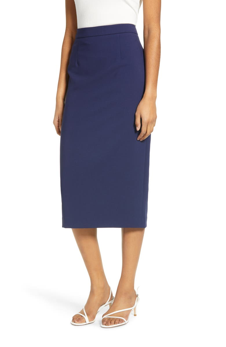 HALOGEN<SUP>®</SUP> Stretch Twill Pencil Skirt, Main, color, 401