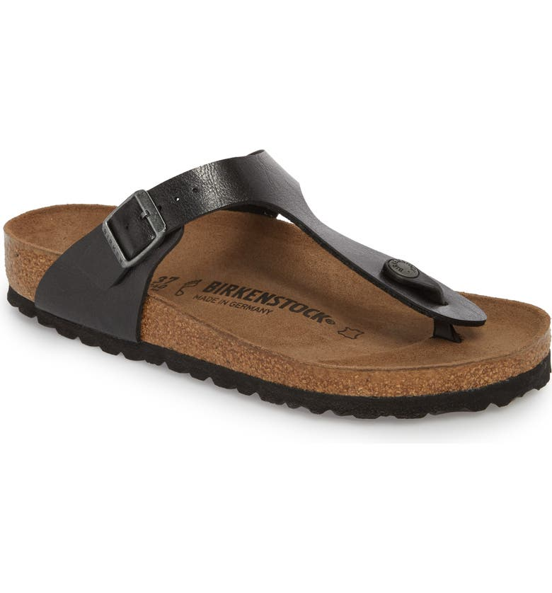 BIRKENSTOCK Gizeh Birko-Flor Flip Flop, Main, color, LICORICE